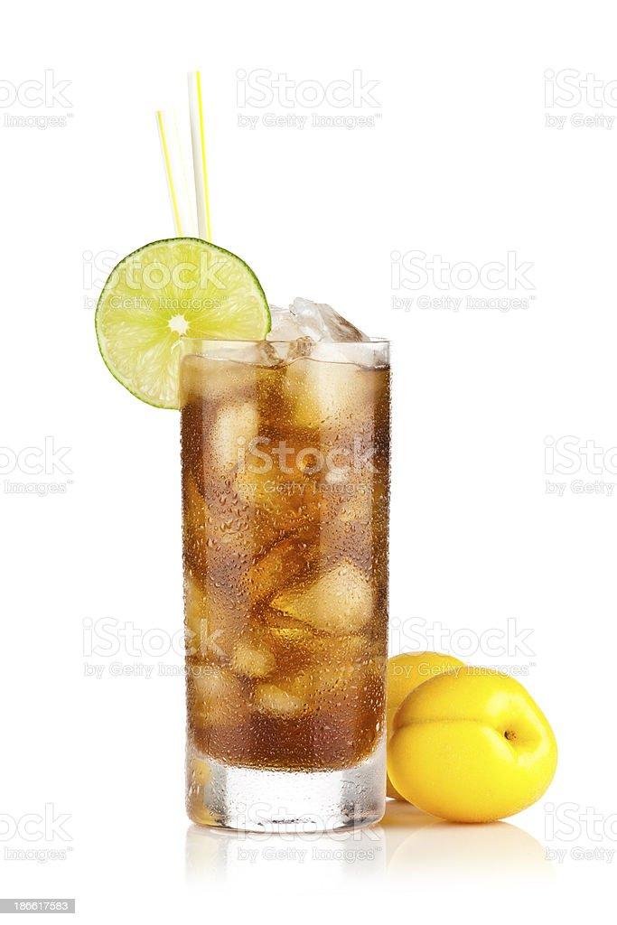 Ice Tea and Peach royalty-free stock photo
