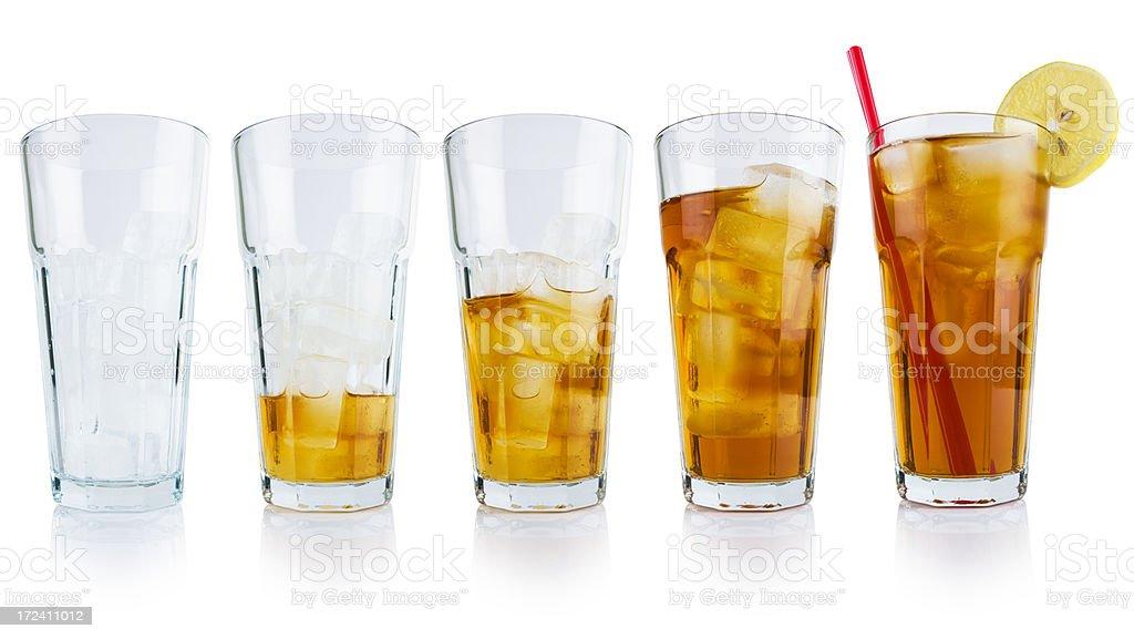 Ice tea fill up royalty-free stock photo