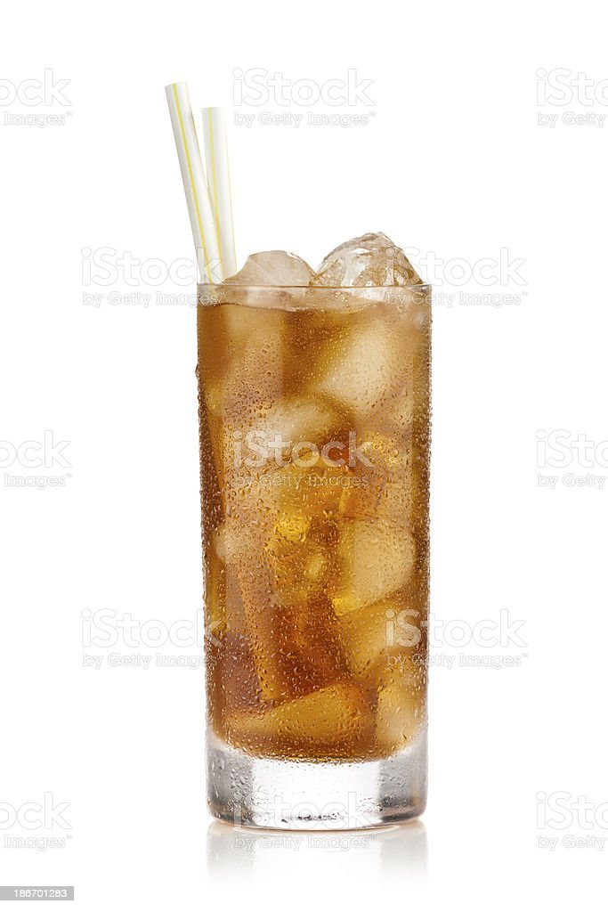 Ice Tea Glass stock photo