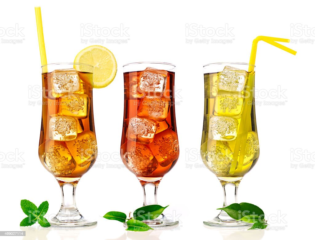 Ice tea mix stock photo