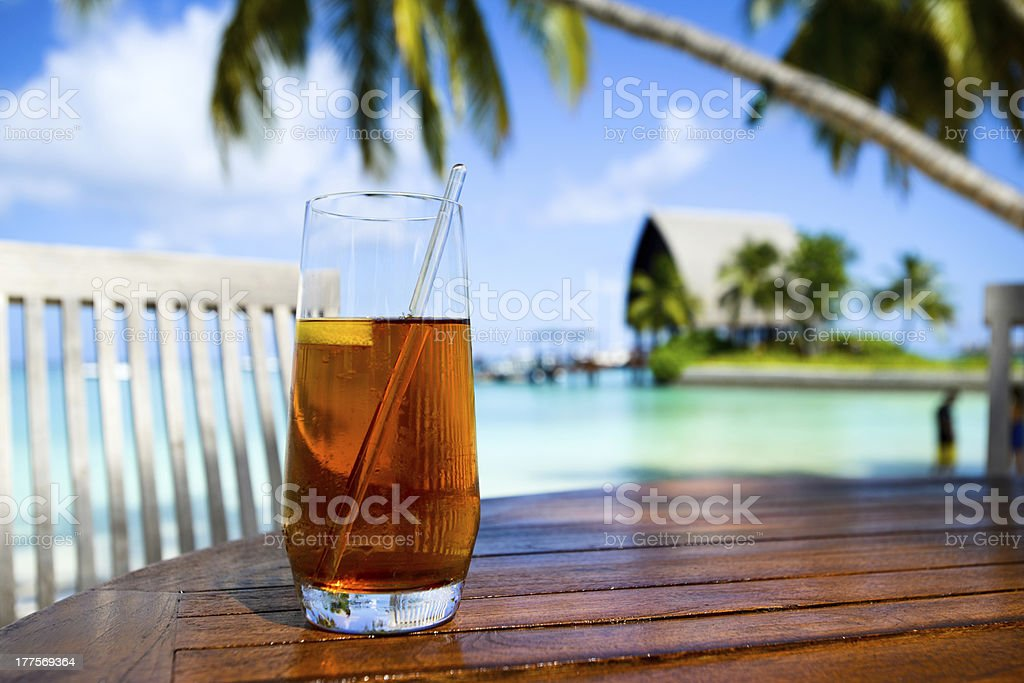 Ice Tea On Table stock photo