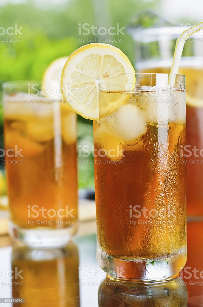 Ice Tea Outdoors royalty-free stock photo