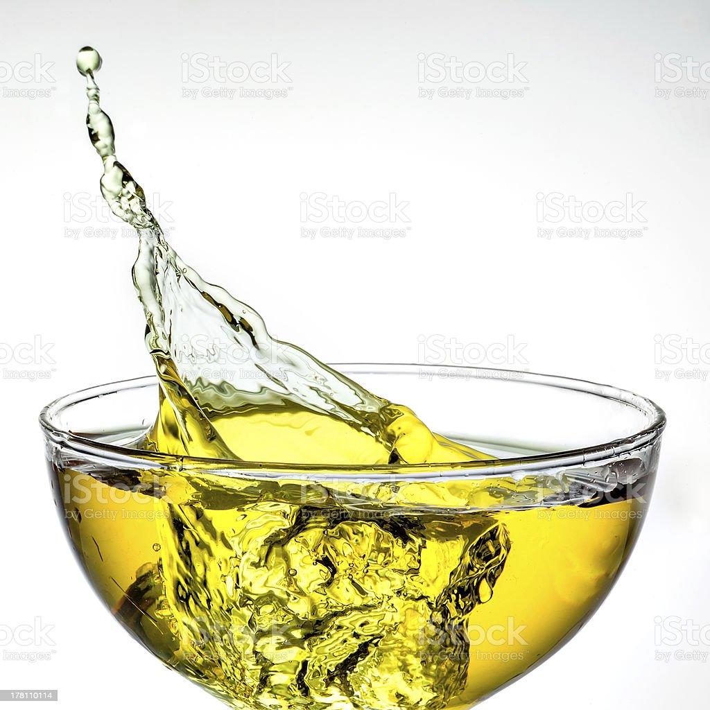 ice tea. splash in glass royalty-free stock photo