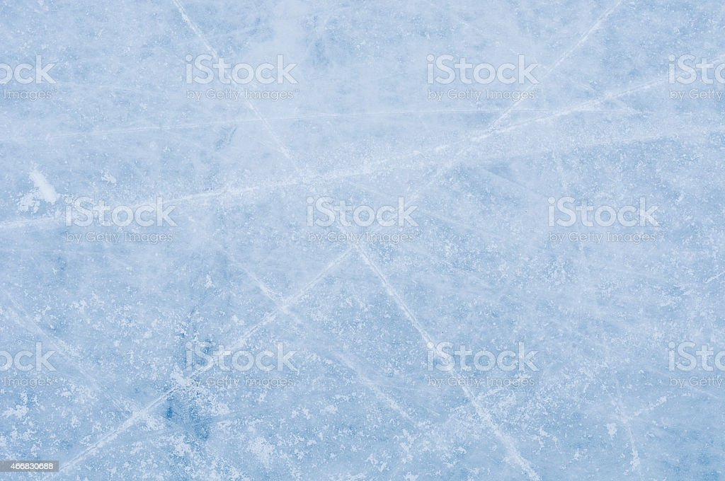 Ice texture on the skating rink stock photo