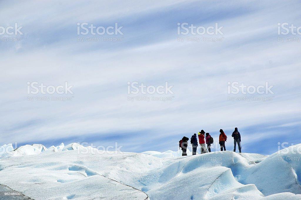 Ice trekking, patagonia argentina. stock photo