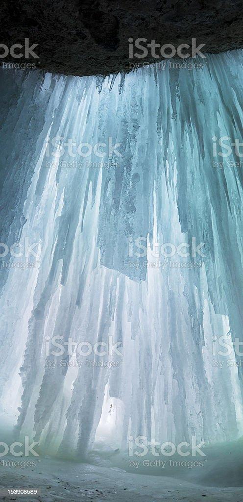 Ice wall royalty-free stock photo