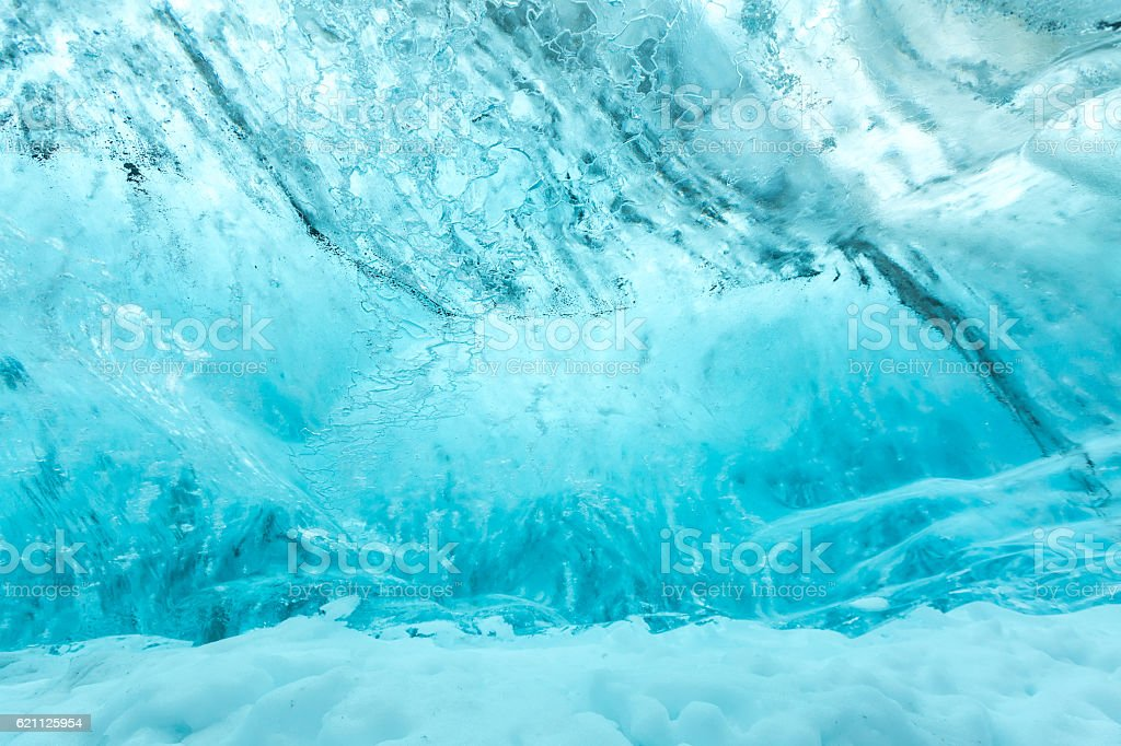 Ice wall texture stock photo