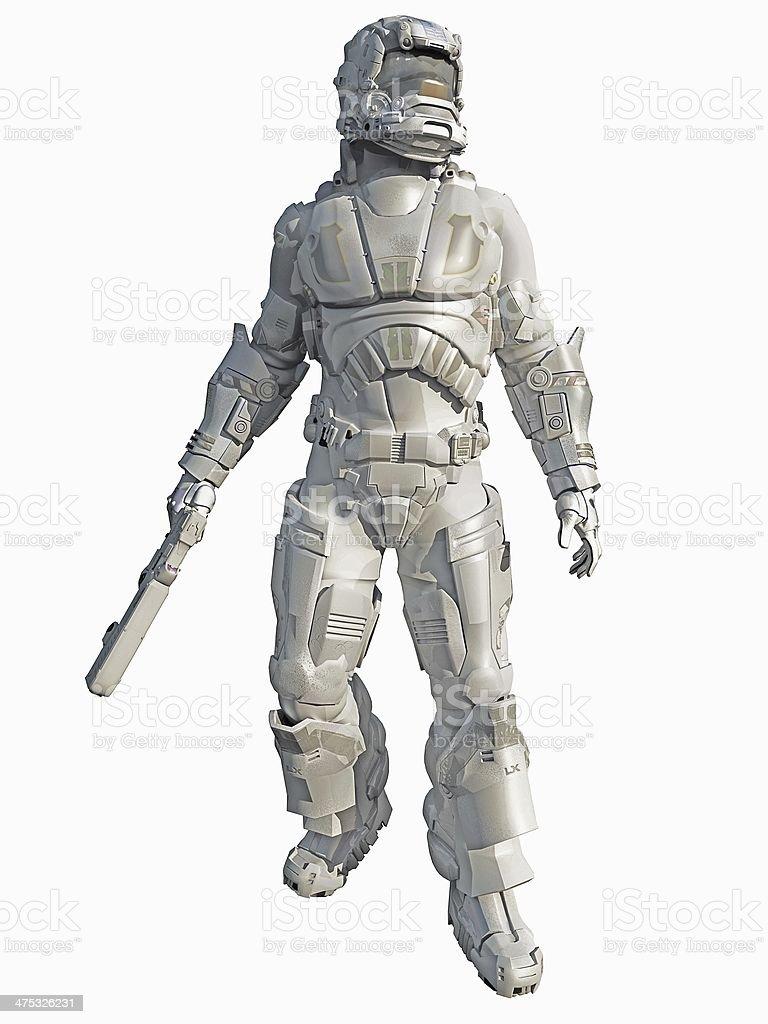 Ice Warrior Space Marine stock photo