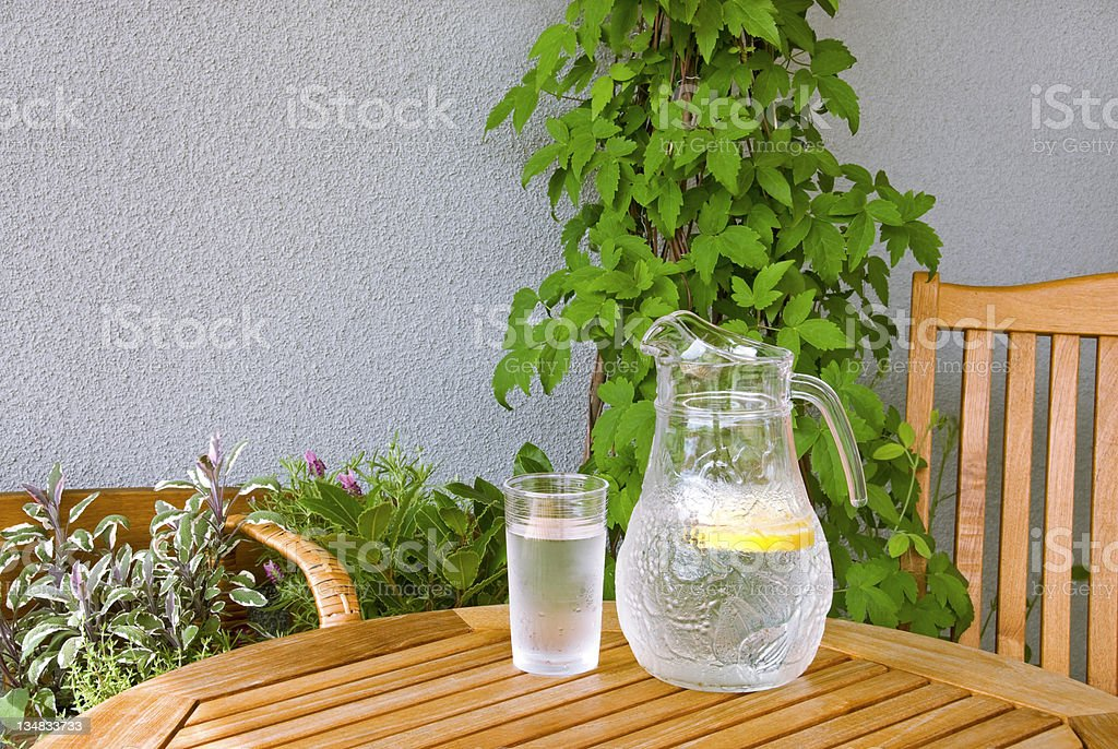 Ice water refreshment royalty-free stock photo