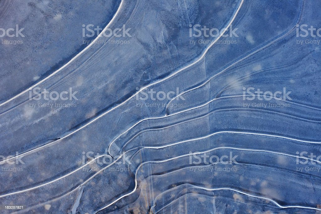 Ice Water Waves royalty-free stock photo
