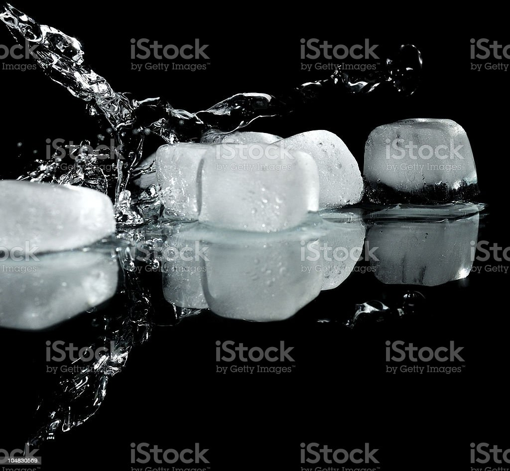 Ice with water royalty-free stock photo