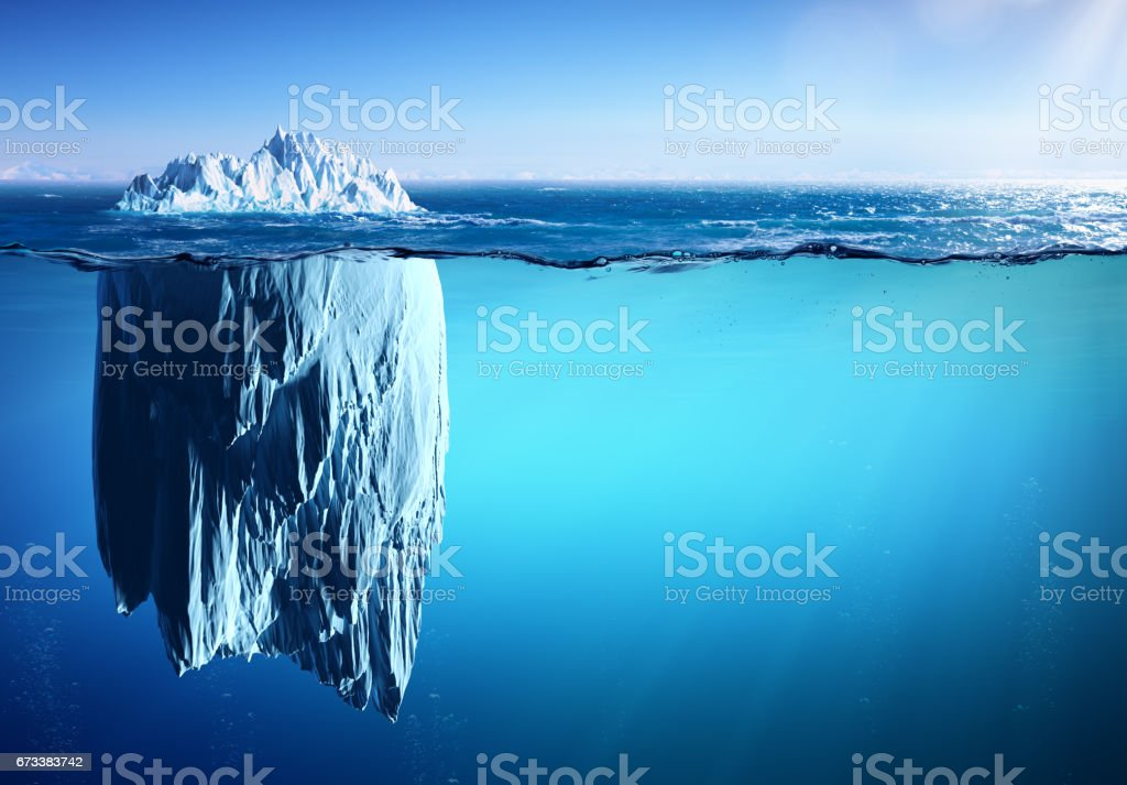 Iceberg - Appearance And Global Warming Concept stock photo