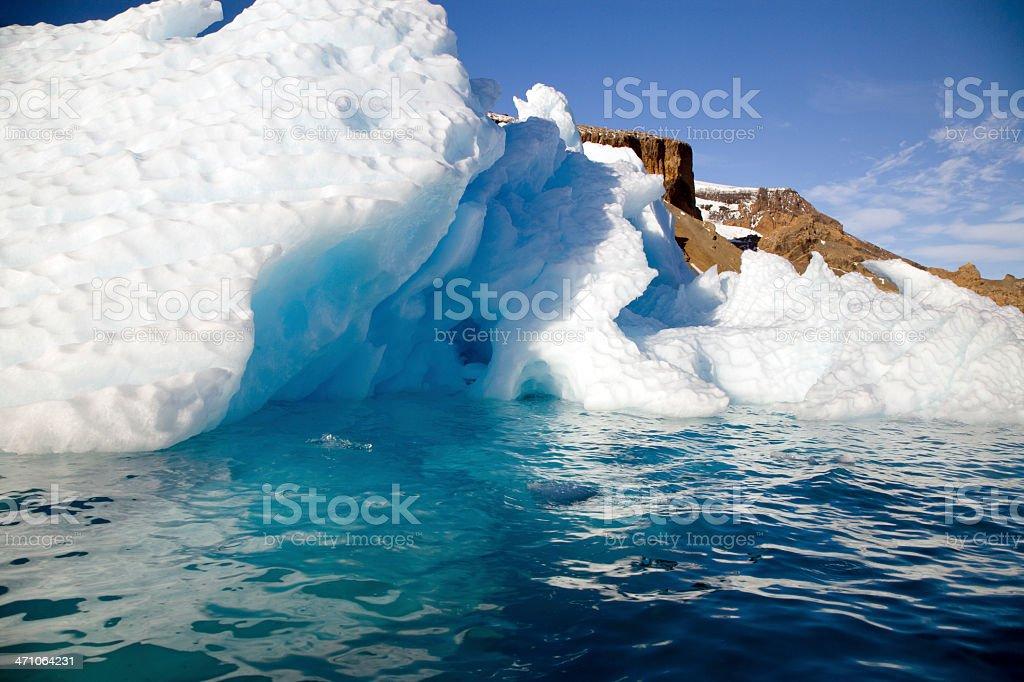 Iceberg Brown Bluff Antarctica Peninsula stock photo
