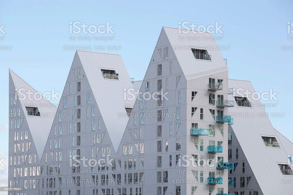 Iceberg building in Aarhus stock photo