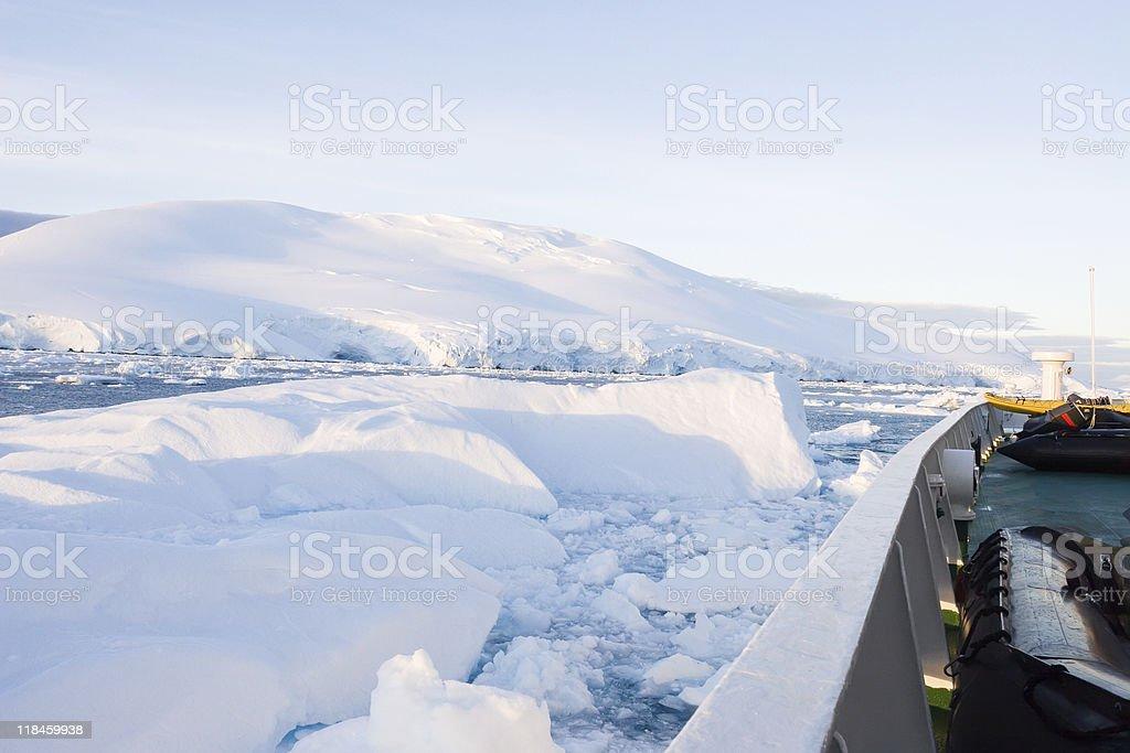 iceberg collision royalty-free stock photo