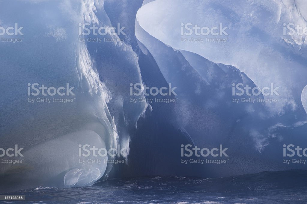 Iceberg Detail Antarctica III stock photo