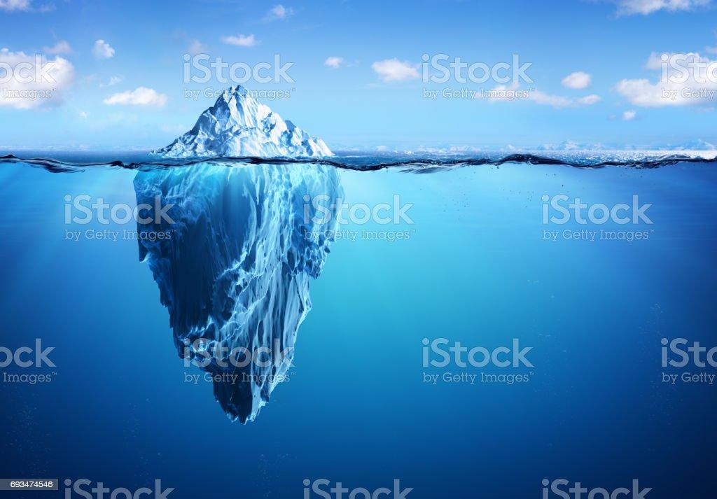 Iceberg Floating In Arctic Sea stock photo