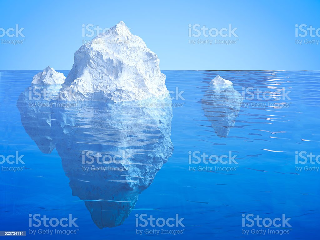 iceberg floating stock photo