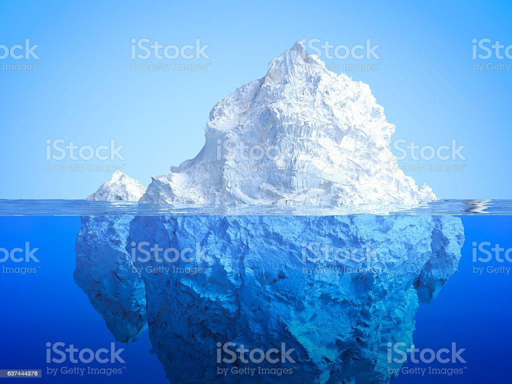 iceberg floating stock photo