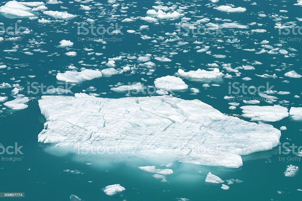 Iceberg from Tracy Arm Fjord in Alaska stock photo