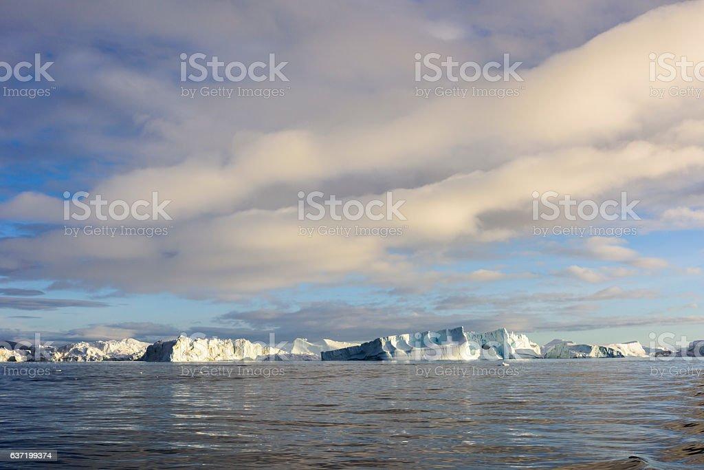 Iceberg, Greenland, Ilulissat Icefjord stock photo