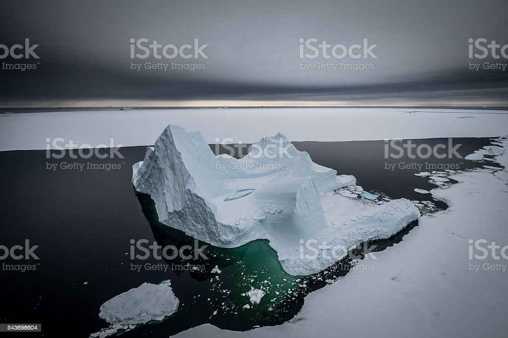 Iceberg heading south stock photo