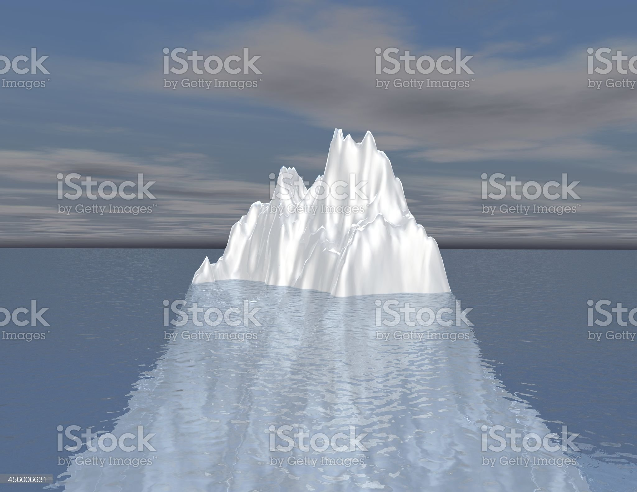 iceberg illustration intuition, hided and unconscious opportunity concept royalty-free stock photo