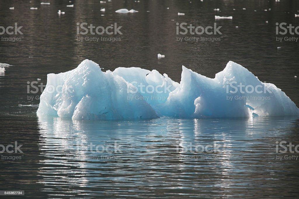 Iceberg in Alaska stock photo