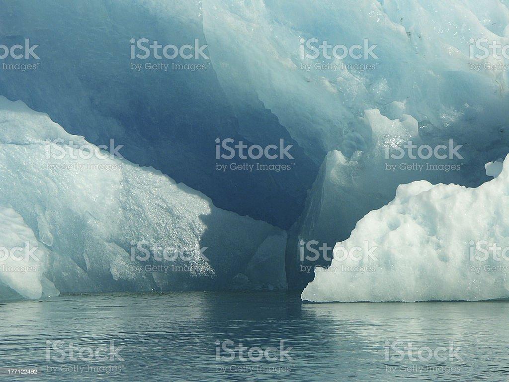 Iceberg in Le Conte Bay, Alaska (closeup) royalty-free stock photo
