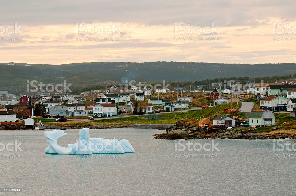Iceberg in St. Anthony, Newfoundland stock photo