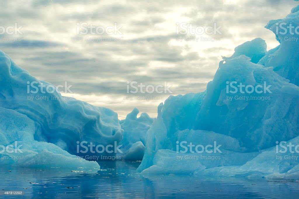 Iceberg in the evening light - XXL image stock photo