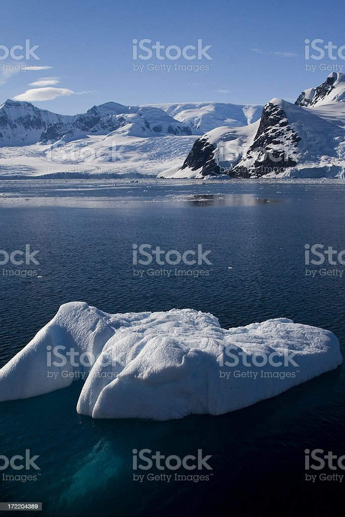 Iceberg in the Lemaire Channel, Antarctica stock photo