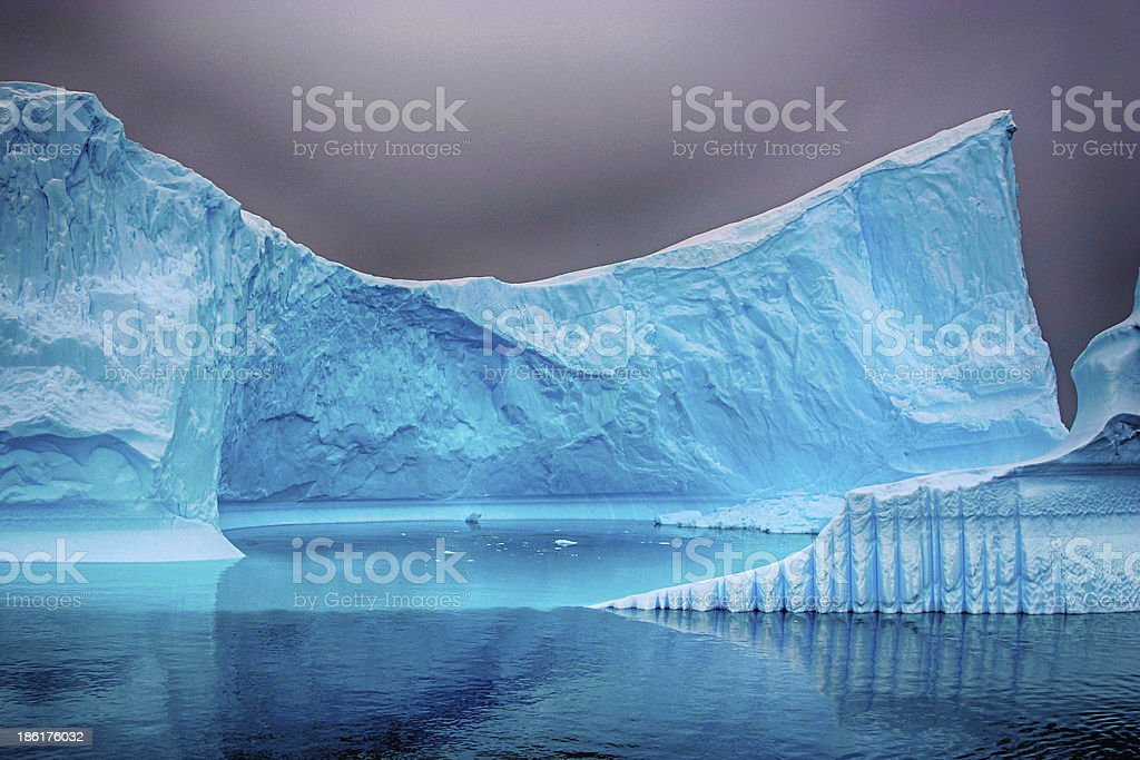 Iceberg in the sea with strong HDR effect royalty-free stock photo