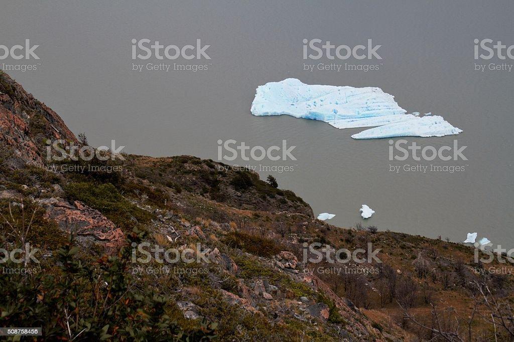 Iceberg in Torres del Paine National Park stock photo