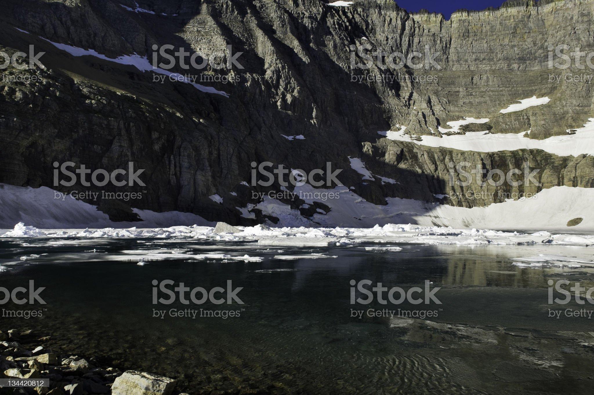 Iceberg Lake Glacier National Park Montana royalty-free stock photo
