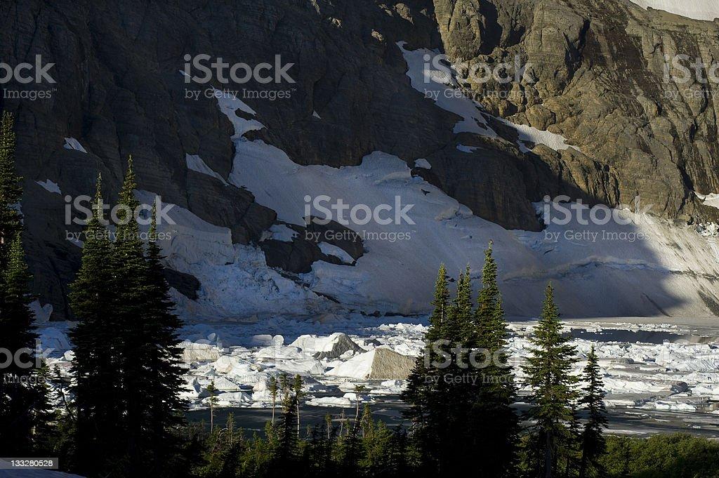 Iceberg Lake in Glacier National Park Montana royalty-free stock photo