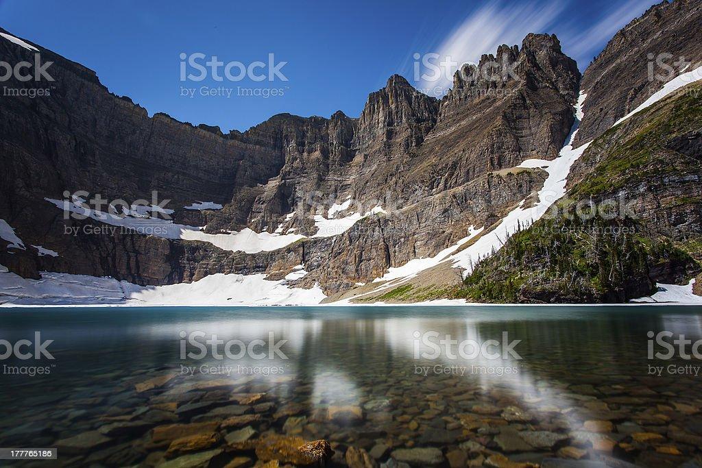 Iceberg lake royalty-free stock photo