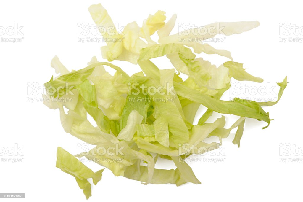 Iceberg lettuce cutted stock photo