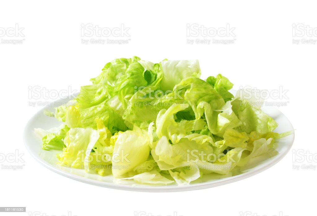 Iceberg lettuce salad stock photo
