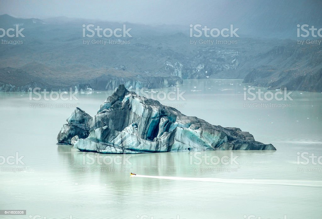 Iceberg - Mount Cook stock photo