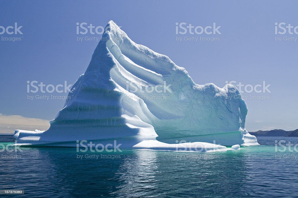 Iceberg, Newfoundland, Trinity Bay, Canada stock photo