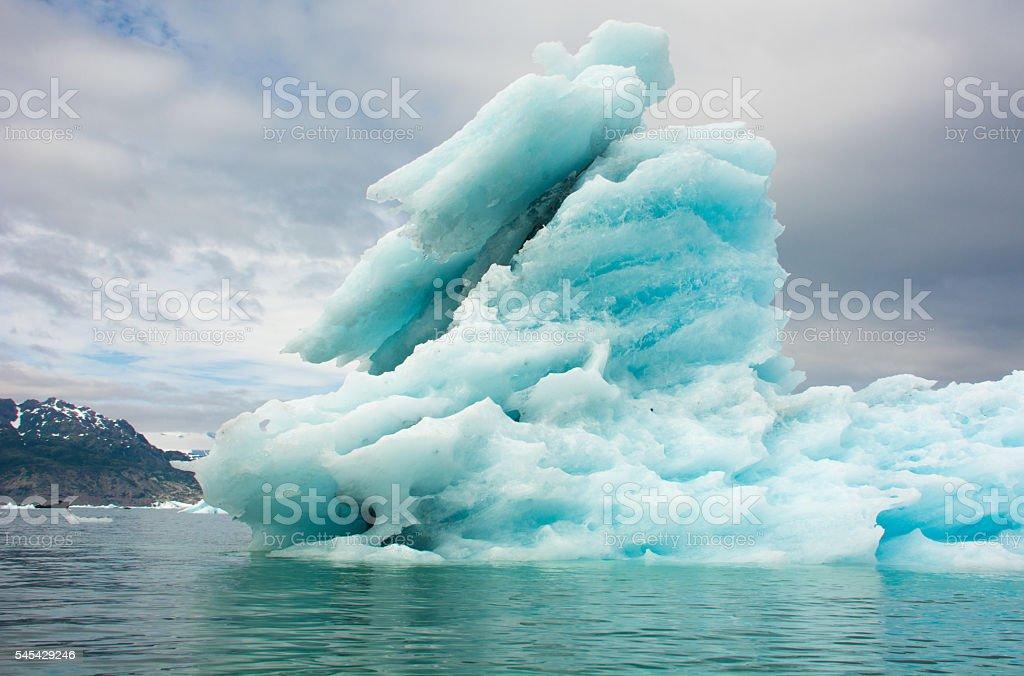 Iceberg off the Columbia Glacier, Columbia Bay, Valdez, Alaska stock photo