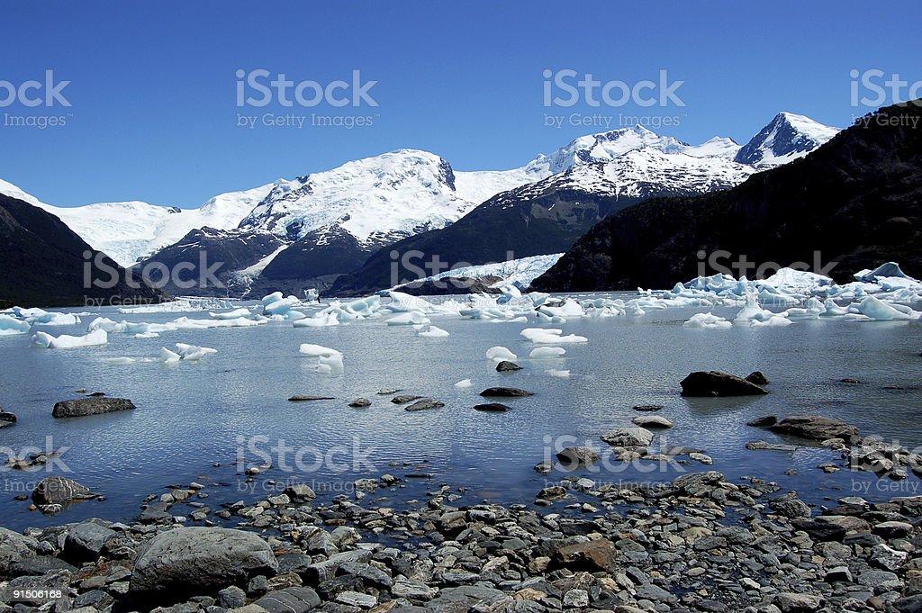 Iceberg on lake royalty-free stock photo