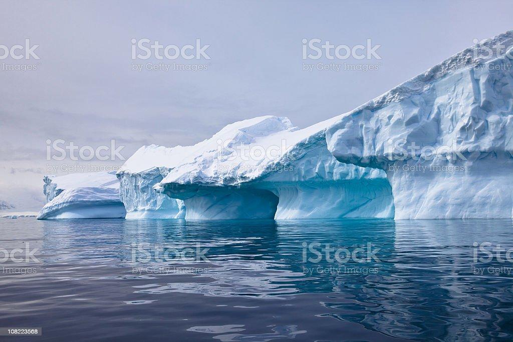 Iceberg, Paradise Bay, Antarctica stock photo