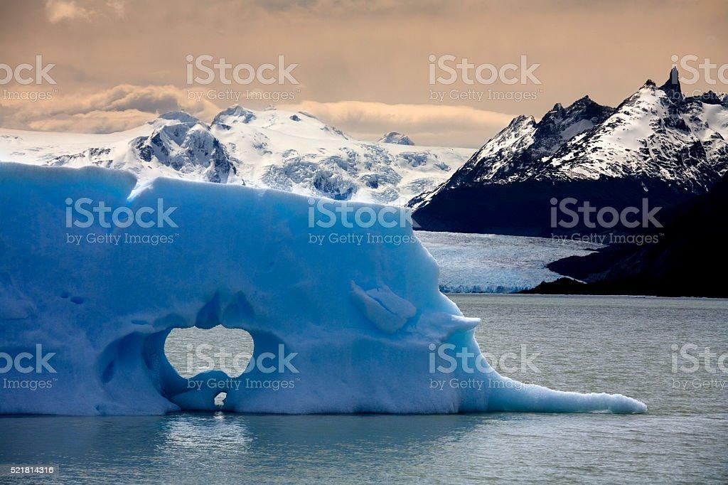 Iceberg - San Rafael Glacier - Chile stock photo