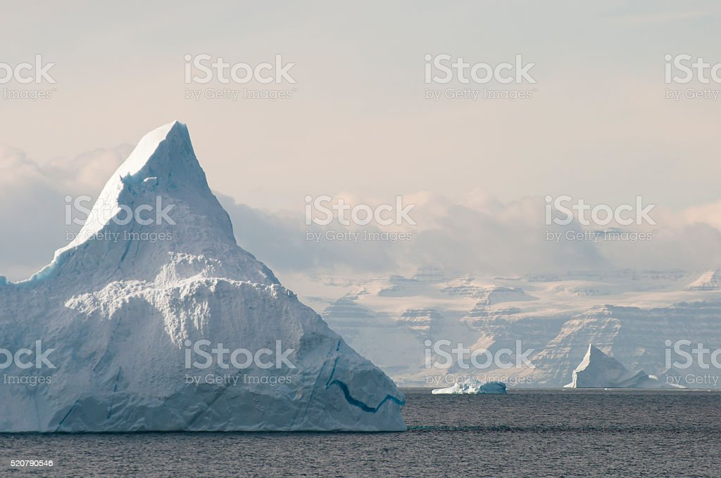 Iceberg - Scoresby Sound - Greenland stock photo