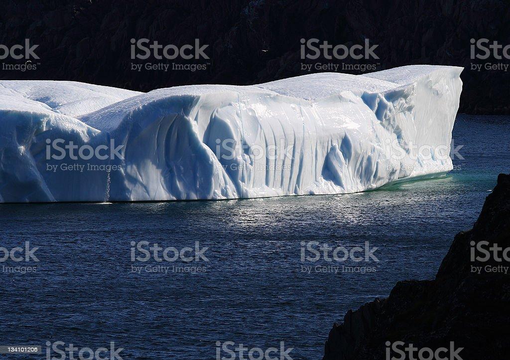 Iceberg Slab at St. Carol's stock photo