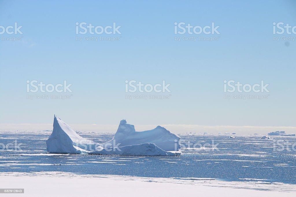 Iceberg, The Argentine Islands, Antarctica stock photo