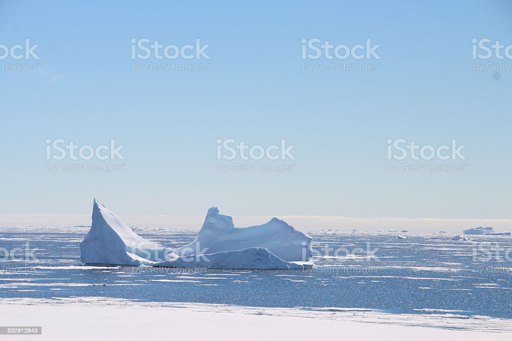 Iceberg, The Argentine Islands, Antarctica stock photo