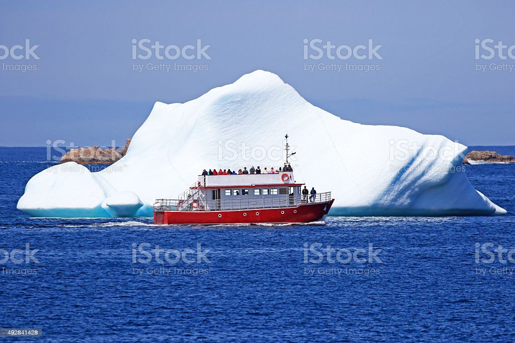 Iceberg Tour, Newfoundland, Canada stock photo